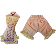 Tiny Faux Corset & Bloomers for Fashion Doll Display