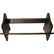 Solid Mahogany Book Holder, Stand, Rack, Shelf, Trough