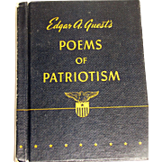 """1942 """"Poems of Patriotism"""" by Edgar A. Guest In Very Fine Condition, World War II"""