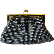 Whiting & Davis Black Diamond Mesh Coin Purse