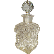 Vintage Hand Cut Crystal Perfume Bottle w/ Prismatic Stopper