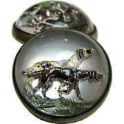 Beautiful Hound Dog Essex Crystal Cufflinks