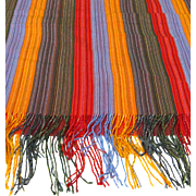"75"" Colorful Woven Fringed Warm Shawl"
