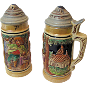 "Harris, Decorative ""Beer Stein"" Salt & Pepper Shakers"