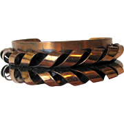 Signed Renoir Modernist Copper Cuff Bracelet