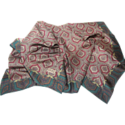 "Elegant Paisley 35"" Square Silk Scarf by Club 7 Echo"