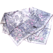 """29"""" Square Fine Silk Floral Bouquet Scarf, Pretty!"""
