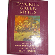 Favorite Greek Myths by Osborne, Mary Pope Osborne and Illustrated by Troy Howell, HCDJ, Children, Like New