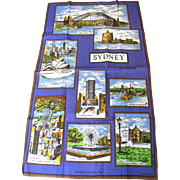 Large Sidney Australia Tourist Tea Towel, Mint