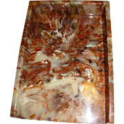 Harris, Vintage Acrylic Faux Marble Desk Tray, Mint