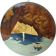 Marquetry Inlaid Picture of the Blue Grotto, Capri