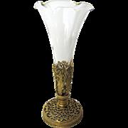 Ormolu Epergene Trumpet Bud Vase, Victorian Revival