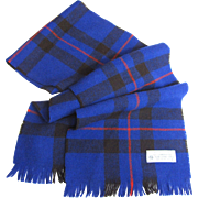 "Scottish Pure Wool 44"" Plaid Scarf"