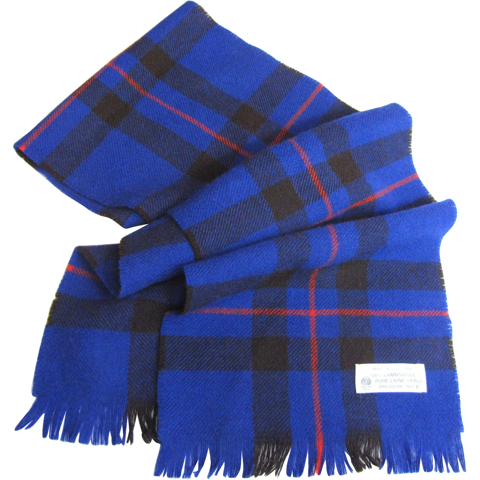 scottish wool 44 quot plaid scarf from faywrayantiques on