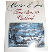 Currier and Ives Four Seasons Cookbook, HCDJ, Like New