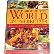 Around the World in 450 Recipes by Sarah Ainley, HC, Like New