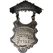 Antique Demorest Prohibition Prize Medal Silver Pin
