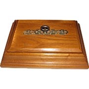 Elegant Oak Trinket or Jewel Box, Sturdy, Near Mint