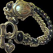 Sterling Silver Flip Top Charm Bracelet Watch by Ecclissi