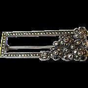 Art Deco Sterling & Marcasite Bar Pin, 7 grams