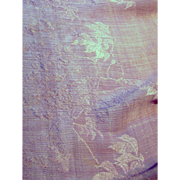 """44"""" Section of Antique Fortuny Mauve Silk for Doll Costumes"""