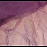 Antique Mauve Tissue Silk for Doll Costumes