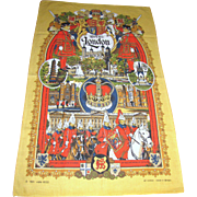 "Vibrant ""Royal London"" 1981 Tea Towel"