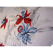 "1950's Retro Flower 30"" Square Rayon Scarf"