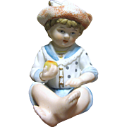 Small Bisque Piano Baby Figurine of a Little Boy by Andrea