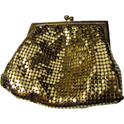 Whiting & Davis Gold Diamond Mesh Coin Purse