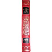 Mr. Clemens and Mark Twain a Biography by Justin Kaplan, Franklin Library,1986, Limited Edition, Pulitzer Prize 1967, Leather Bound, Nearly New