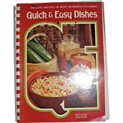 Harris, Quick and Easy Dishes: Favorite Recipes of Home Economics Teachers, Revised Edition, 1978
