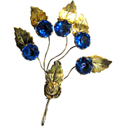 "Gilt Sterling ""Trembler"" 1940's Floral Pin"