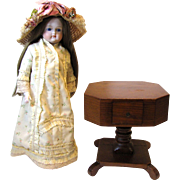 Old 18th Century Style Revolving Table for Fashion Doll