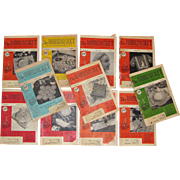 1950's, The Workbasket Needlecraft Magazines 11 Issues