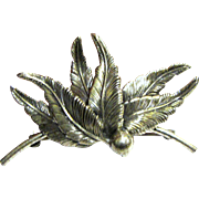 Sterling Feather Crest Pin by Beau, 9 grams