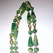 Vintage Mexican Hardstone Face Necklace