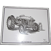 "1946 Ford Model NZ Tractor Print by Artist Dale Adkins, Laminated 11"" x 14"""