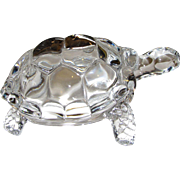 Lead Crystal Turtle by Crystal D' Arques,  7""