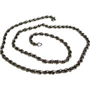 "VintageThick & Pliant Sterling Silver 20"" Rope Chain"