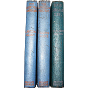 1930's 3 Books - Carolyn Keene. Nancy Drew, The Hidden Staircase & The Bungalow Mystery,  Margaret Sutton. Judy Bolton Mystery, Seven Strange Clues