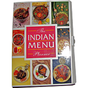 The Indian Menu Planner by Welcomgroup Maurya Sheraton - Hardback Folder, Like New