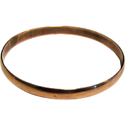 Elegant Solid Copper Bangle Bracelet