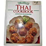 The Great Thai Cookbook by Bellefontaine, HCDJ, Color Photos, Like New