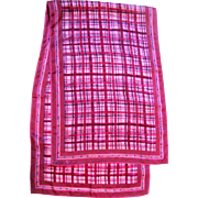 "Vibrant ""Vera"" Pink Polyester 44"" Long Scarf"