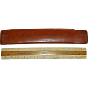 "Vintage K&E 6"" Engineers Pocket Ruler, Wood, Two Sided, #1420P in its Original Leather Case"