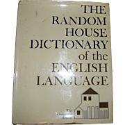 The Random House Dictionary of the English Language, Unabridged 1966, 1st Edition, 1st Printing, HCDJ