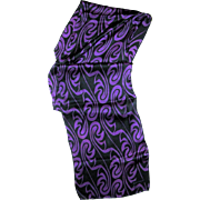 "Black & Purple 56"" Long Silk Scarf by Echo"