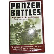 1956, Panzer Battles by Major General F.W. Von Mellenthin, 1st Ed, HCDJ, WWII