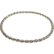 Mexican Sterling Rope Twist Bangle, 15 grams